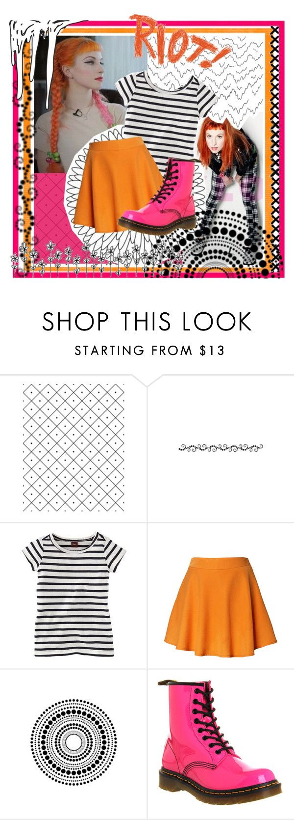 """""""Fashion Inspiration: Hayley Williams (Paramore)"""" by liesle ❤ liked on Polyvore featuring Camp, Chicwish and Dr. Martens"""