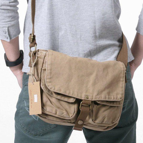 New Shoulder Messenger Men Vintage Military Crossbody Canvas Bag Satchel Colors