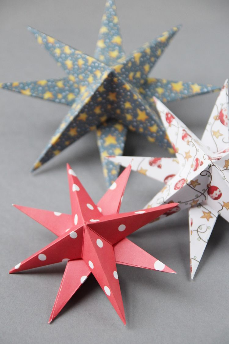 3d Paper Star Christmas Decorations Gathering Beauty Paper Christmas Ornaments Christmas Paper Crafts Christmas Paper