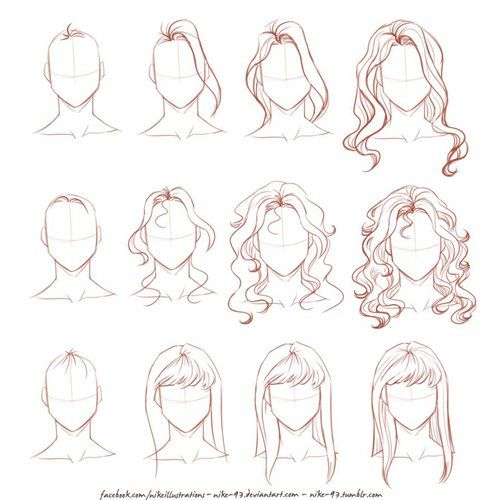Kartinka S Tegom Drawing Draw And Hair How To Draw Hair Drawings Drawing People