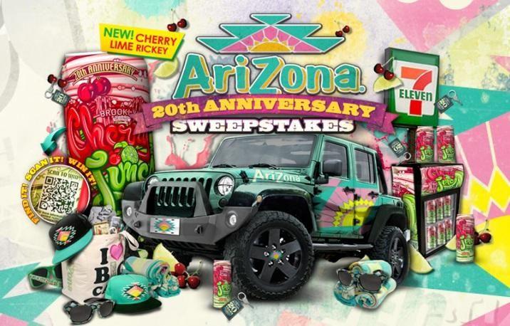 Win An Arizona Iced Tea Jeep Wrangler Sweepstakes Usa Arizona New Cars Monster Trucks