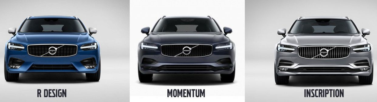 just realised the nose of the new v90s vary by trim level subtle for momentum vs inscription. Black Bedroom Furniture Sets. Home Design Ideas