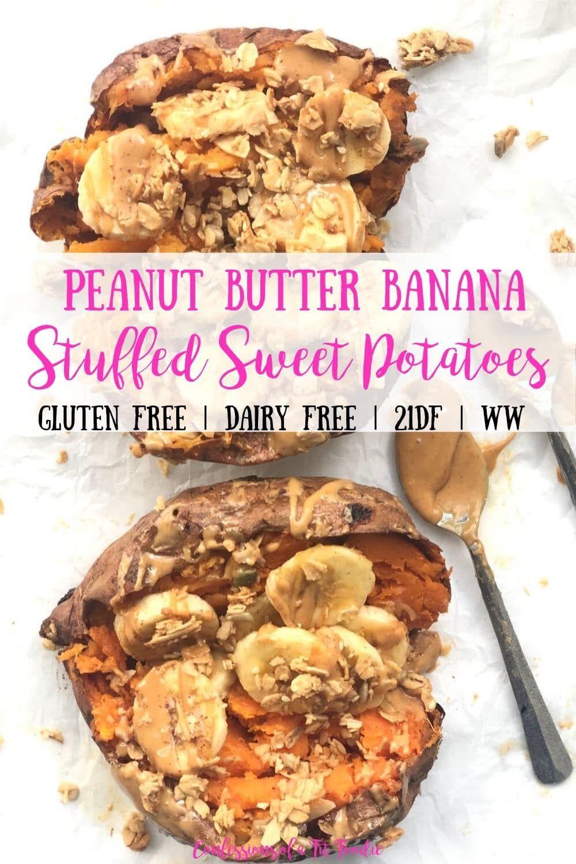 Photo of Peanut Butter Banana Stuffed Sweet Potatoes [