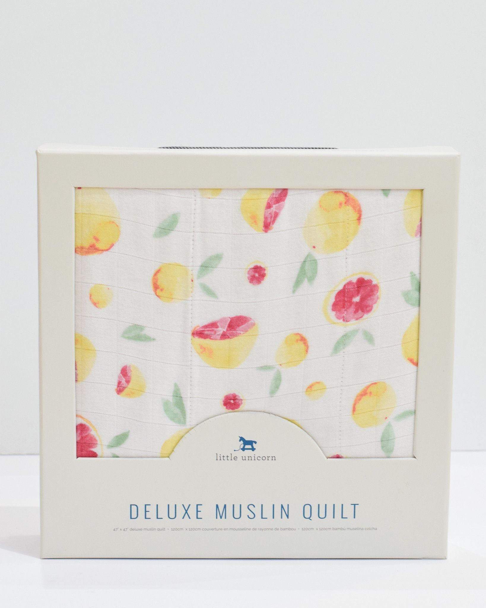 Little Unicorn Deluxe Muslin Quilt - Grapefruit