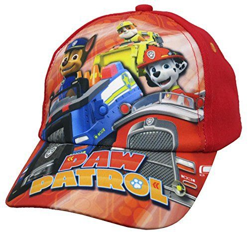 79cd378388f Your little one will feel brave wearing this paw Patrol Red Baseball Cap in Toddler  Size From Nickelodeon