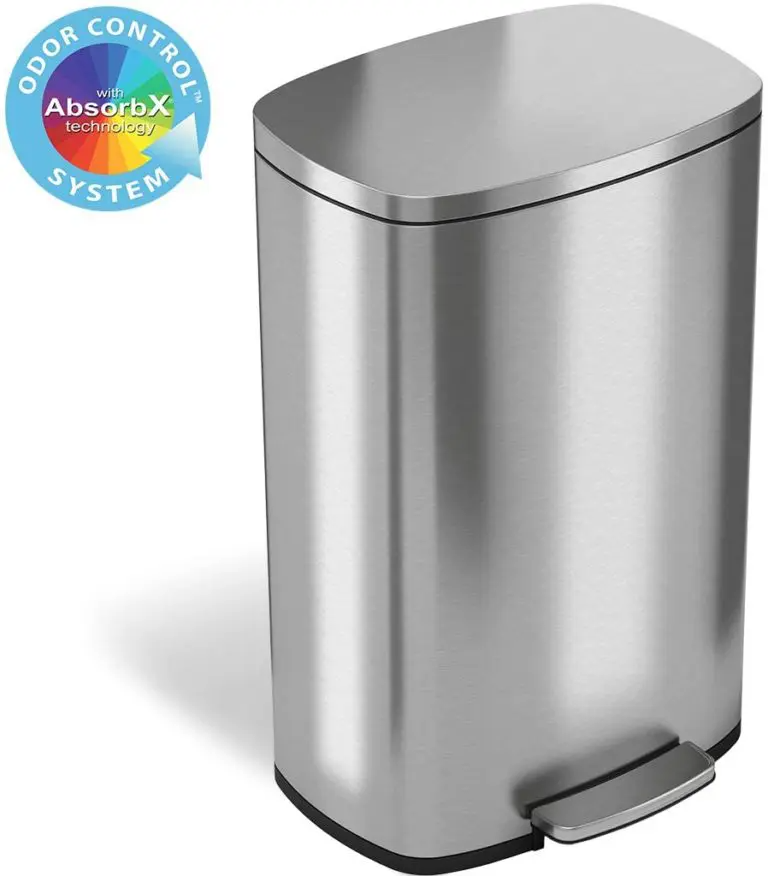1 Itouchless Softstep 13 2 Gallon Stainless 50 Liter Pedal Garbage Bin For Kitchen In 2020 Kitchen Trash Cans Trash Can Recycling Containers
