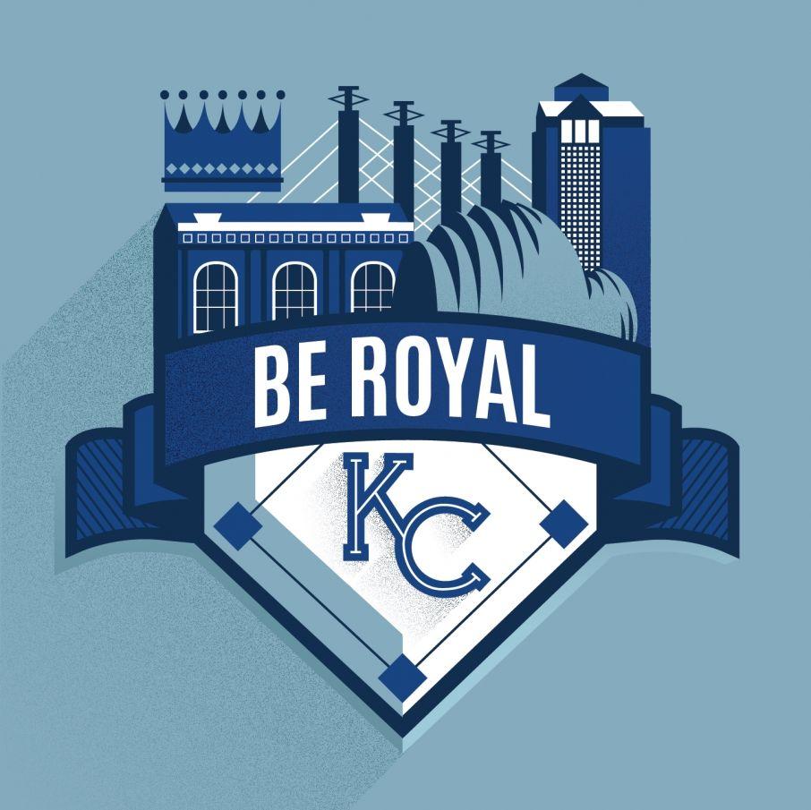 Be Royal Kc Graphic Design Kc Royals Kansas City Royals Baseball Kansas City Royals