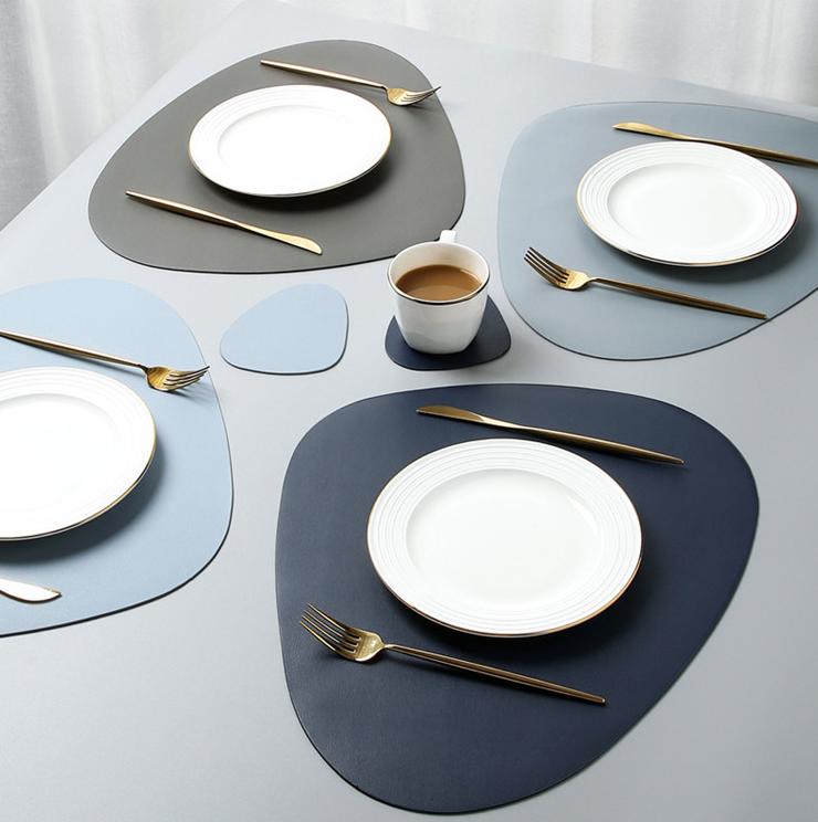 2 Napperons De Table Impermeable Petit Grand Set De Table Design Dressage De Table Service De Table Porcelaine