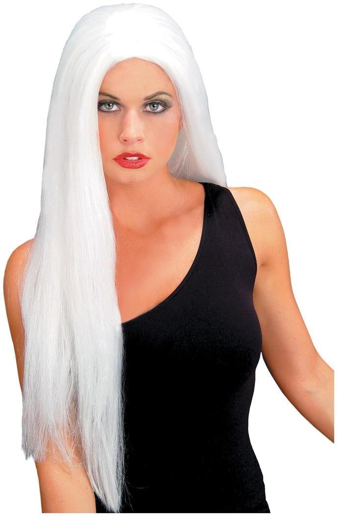 Straight White Wig - CostumePub.com | Dark grey hair color