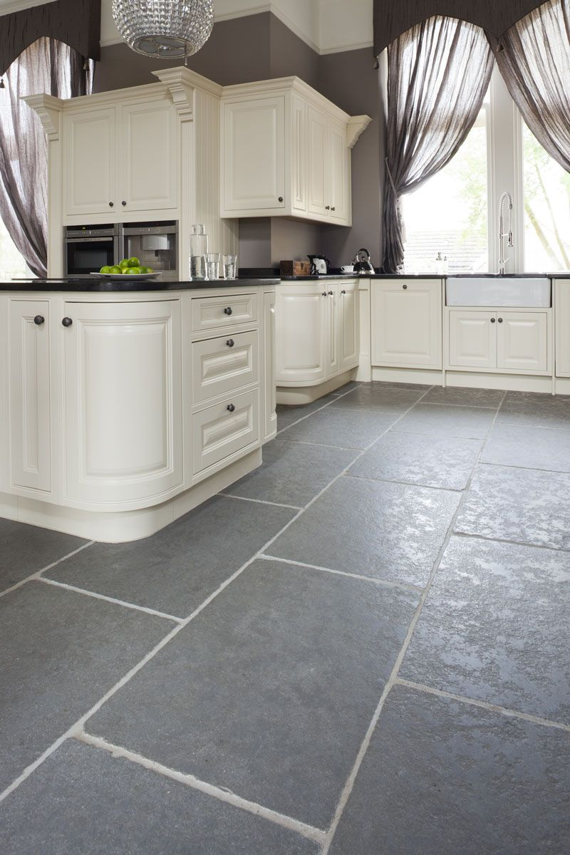 Best Taj Grey Brushed Grey Kitchen Floor Slate Kitchen 640 x 480