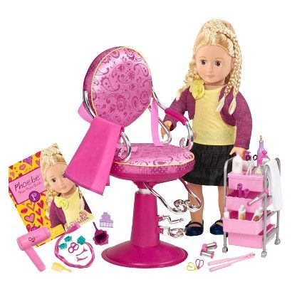 Our Generation Hair Grow Doll And Salon Set Our Generation Doll Accessories American Girl Doll Accessories Our Generation Dolls