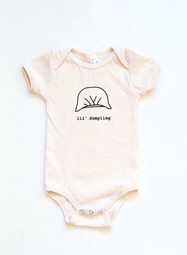 08de28061a23 Dumpling Onesie - Organic Cotton Natural Color