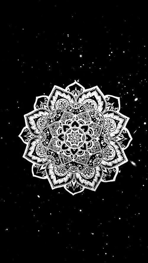 Bw Mandala Tumblr Wallpaper Favim Com 4042002 Jpg 500 215 888
