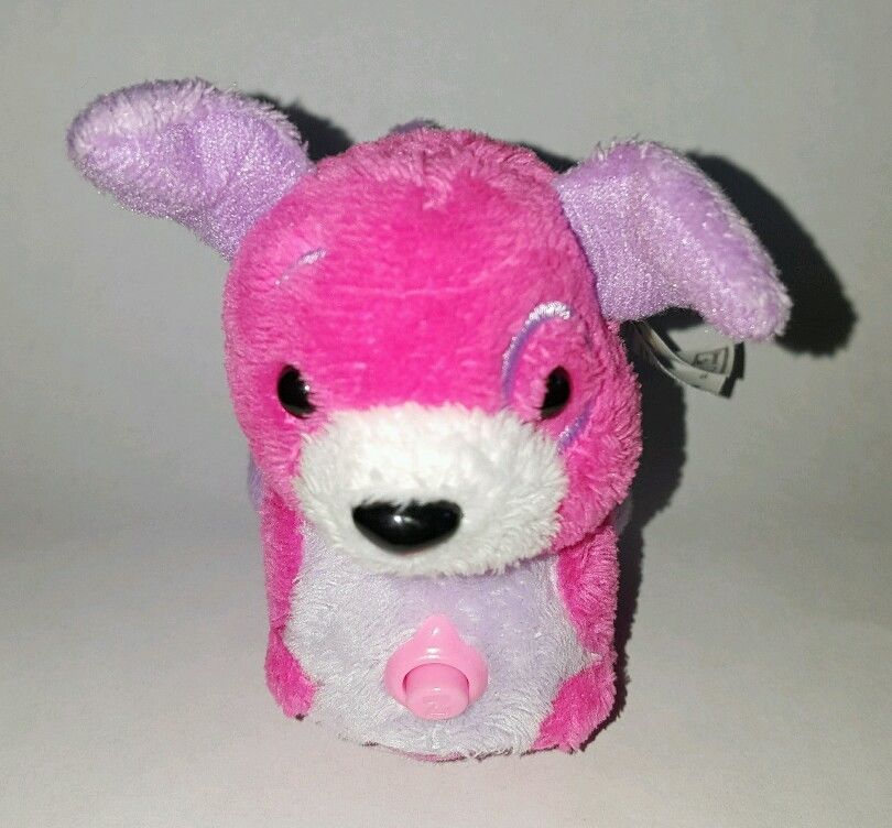 Zhu Zhu Pet Puppy Dog Twittles Pink Purple With Name Tag