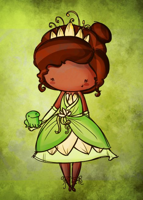 Disney princess tiana · Chibi Tiana