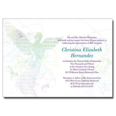 Angel quinceanera invitation quinceaneracards quinceanera angel quinceanera invitation quinceaneracards stopboris Images