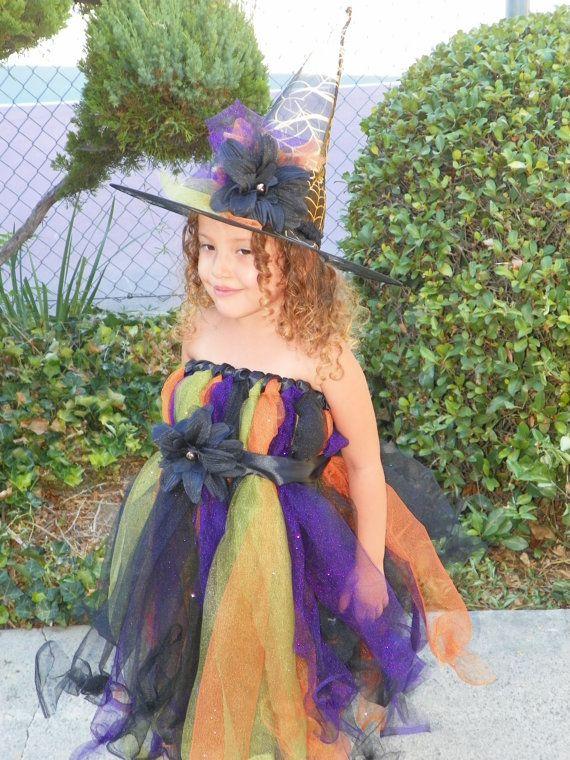 Custom Handmade Glittery Cute Witch Tutu Dress and by Susieskorner - halloween kids costume ideas