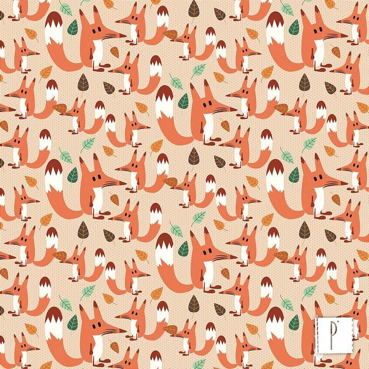 44aa7816f9aefd Raposas no Bosque | Estampas | tecidos | Bosque, Tecidos e Tecido ...