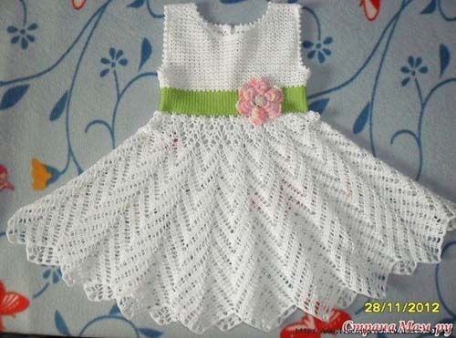 Patron gratis para hacer un vestido a crochet para niña | Crochét ...