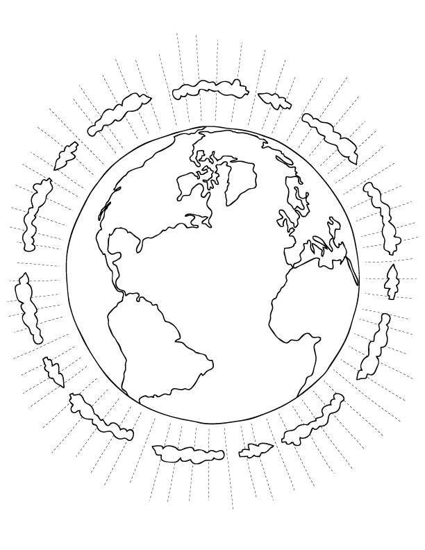Australia Continent in World Map Coloring Page Printable