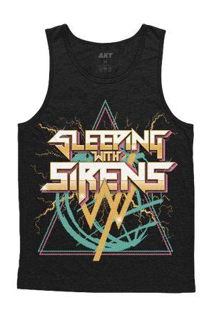 Sleeping With Sirens | 80's Metal Tank (Black) $15