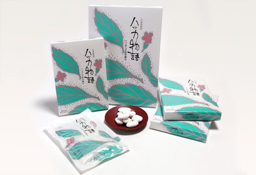 ハッカのお菓子は山樹氷/白花豆に天然ハッカをコーティングした「ハッカ物語」