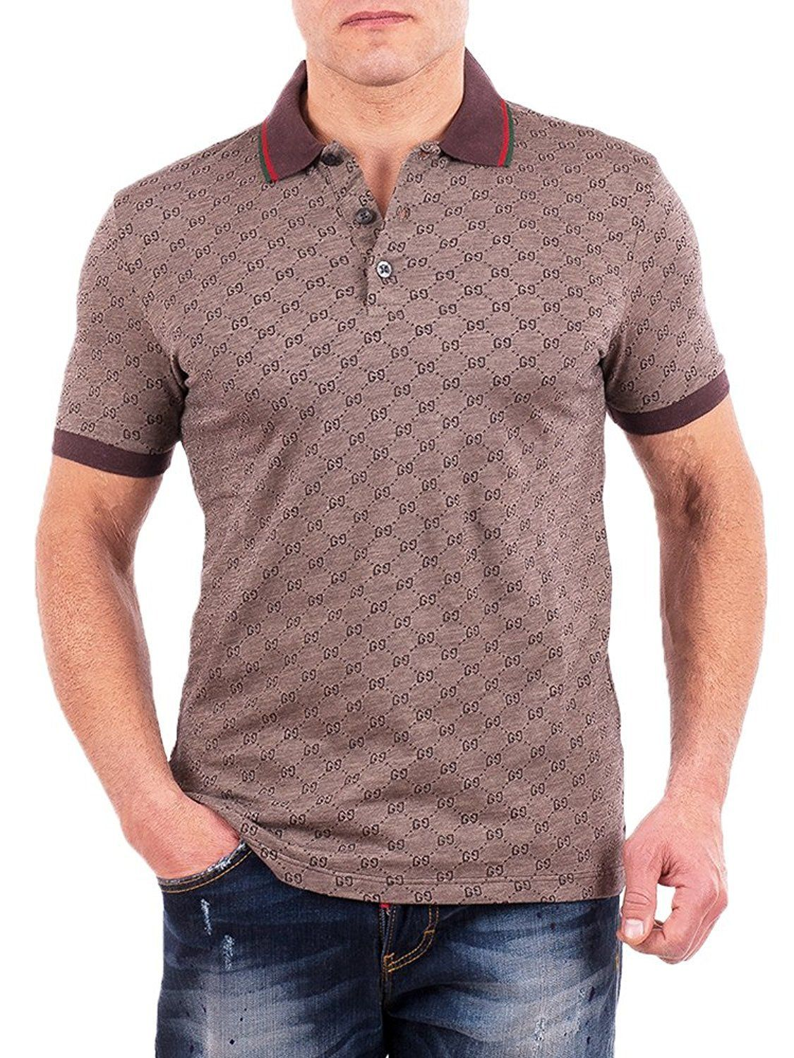 4fe9f5dd GUCCI gg monogram polo | Gucci | Gucci polo shirt, Gucci shirts ...