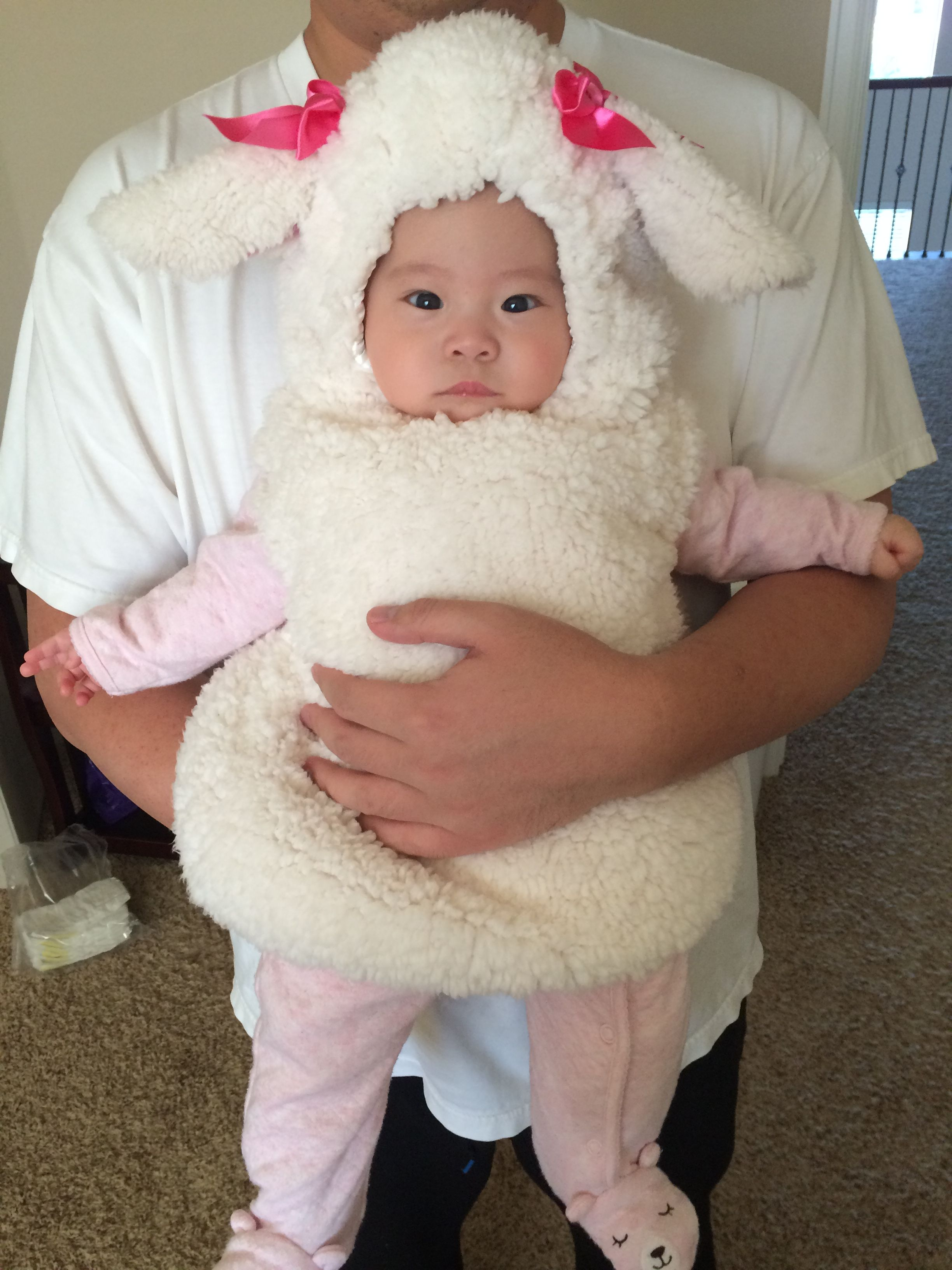 Little lamb Halloween costume from Target  sc 1 st  Pinterest & Little lamb Halloween costume from Target | Mommy and baby Halloween ...