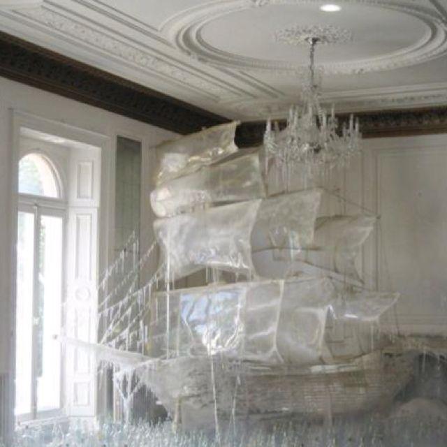 White pirate living room
