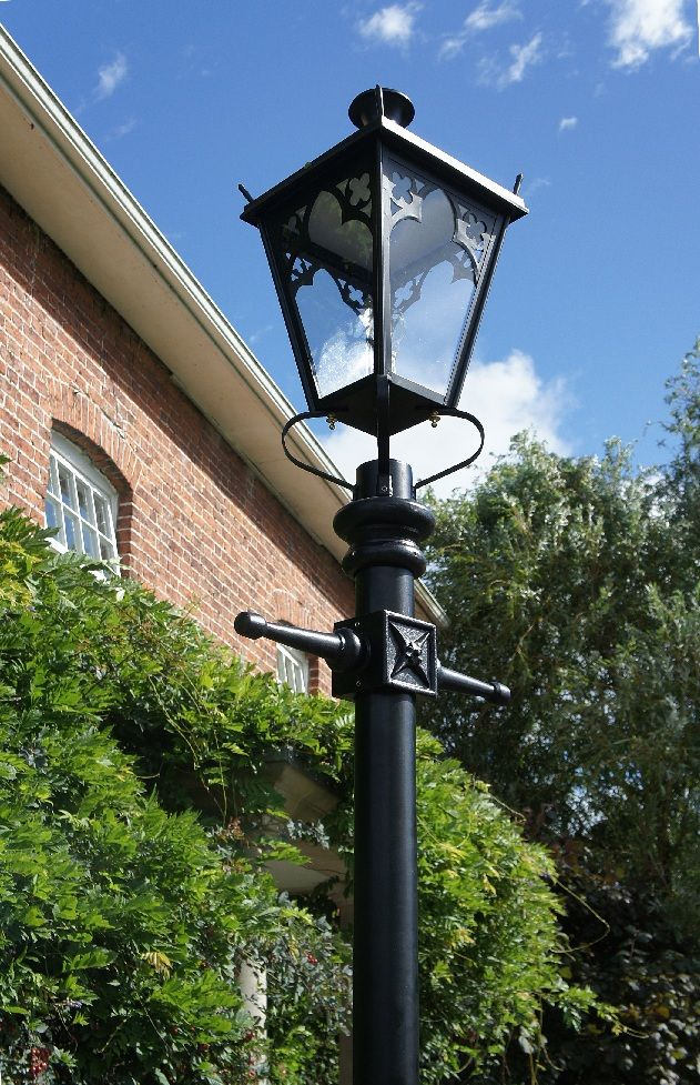 Tall Gothic Black Lamp Post Lamp Post Lantern Post Garden Lamp Post