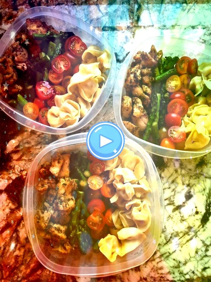 weeks meal prep is all about these Chicken Tortellini pesto bowls So full of flavor and oh so spring appropriate with asparagus Try them todayThis weeks meal prep is all...