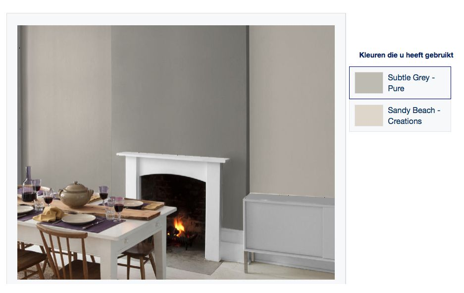 Kleurencombinatie slaapkamer: Flexa Sandy Beach & Flexa Subtle Grey ...