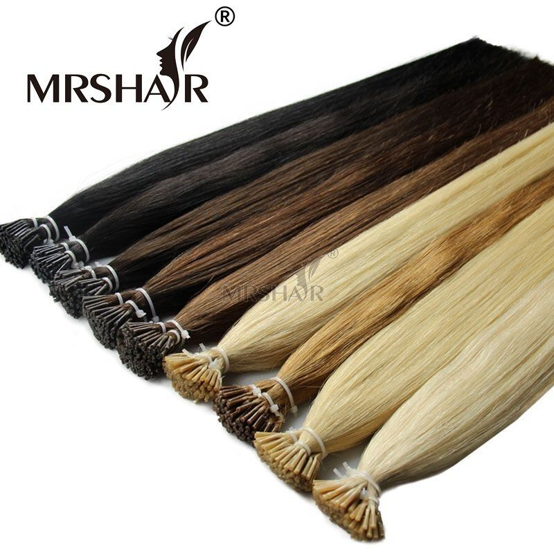 MRSHAIR Pre Bonded Hair Extensions I Tip 1g/pc 16 20 24 Straight Keratin Human Hair On Capsule Real Hair Extensions 50pcs #humanhairextensions