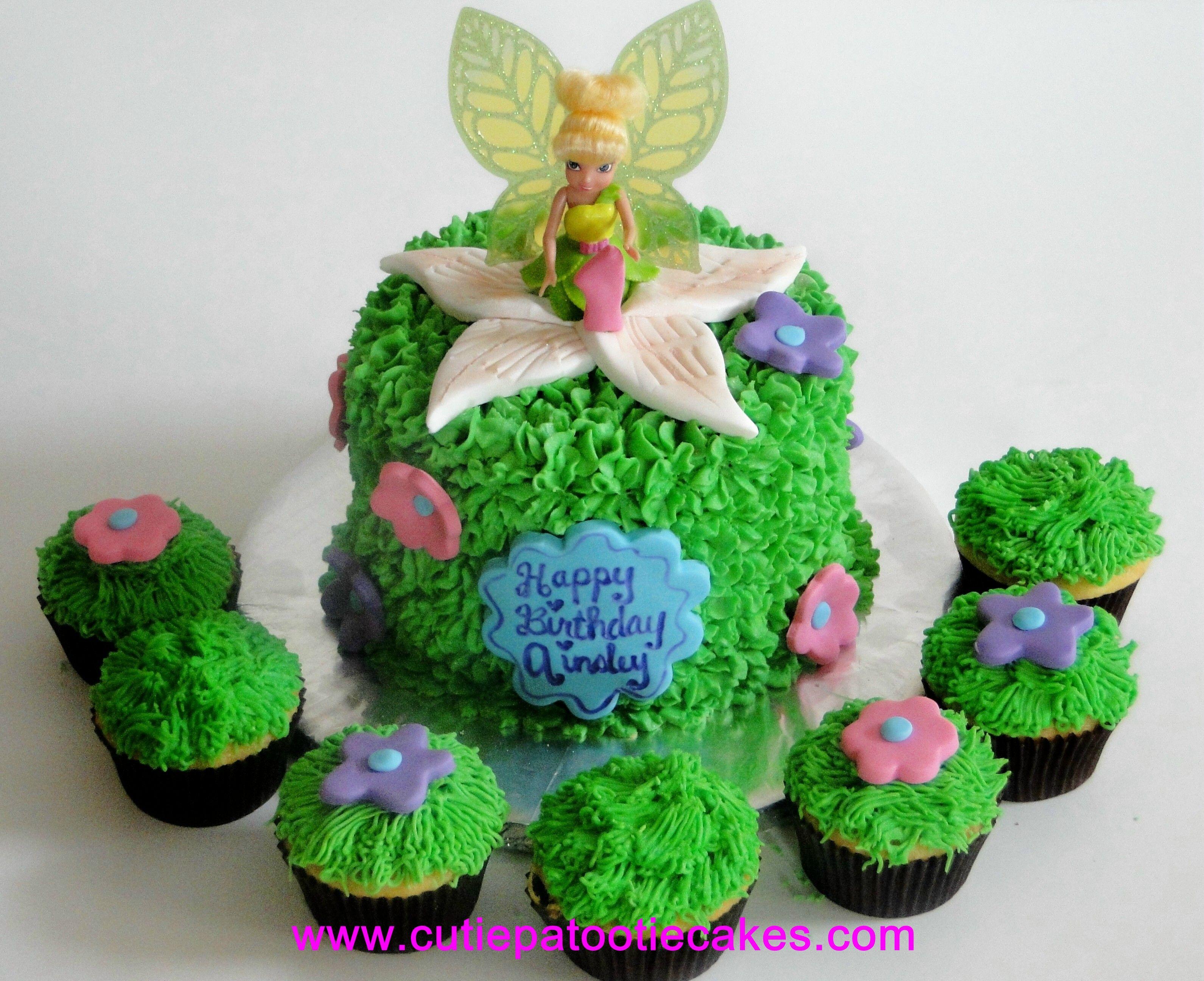 Tinker Bell Ainsleys 1st Birthday Cake Alysons Birthday