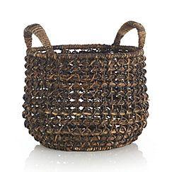 Zuzu Round Handwoven Basket | Crate and Barrel