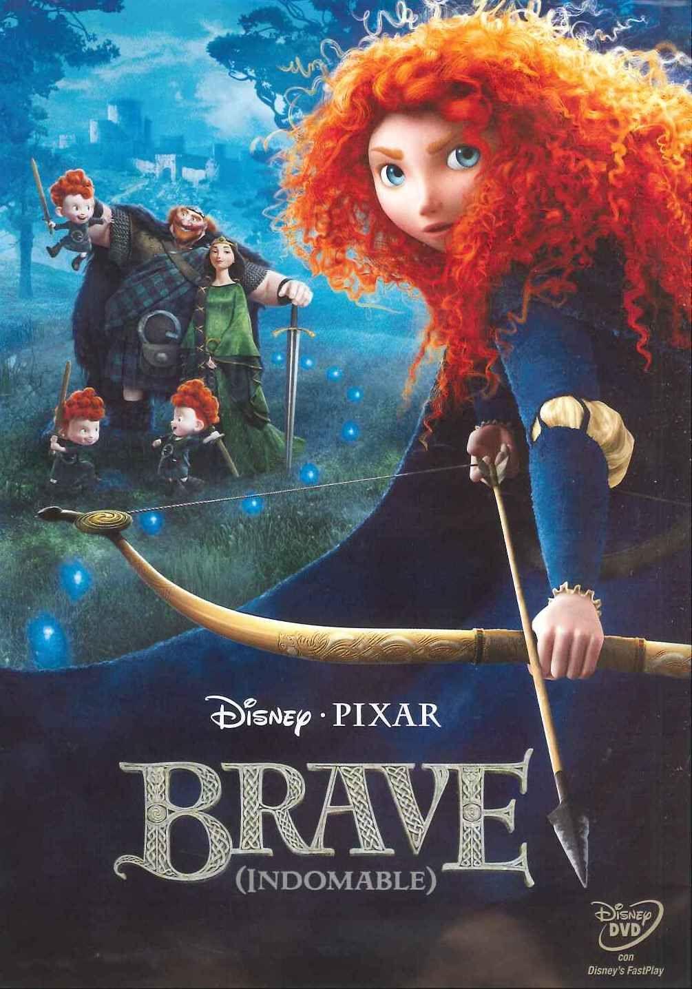 Brave Indomable Dvd Peliculas De Disney Peliculas De Pixar Peliculas Infantiles De Disney