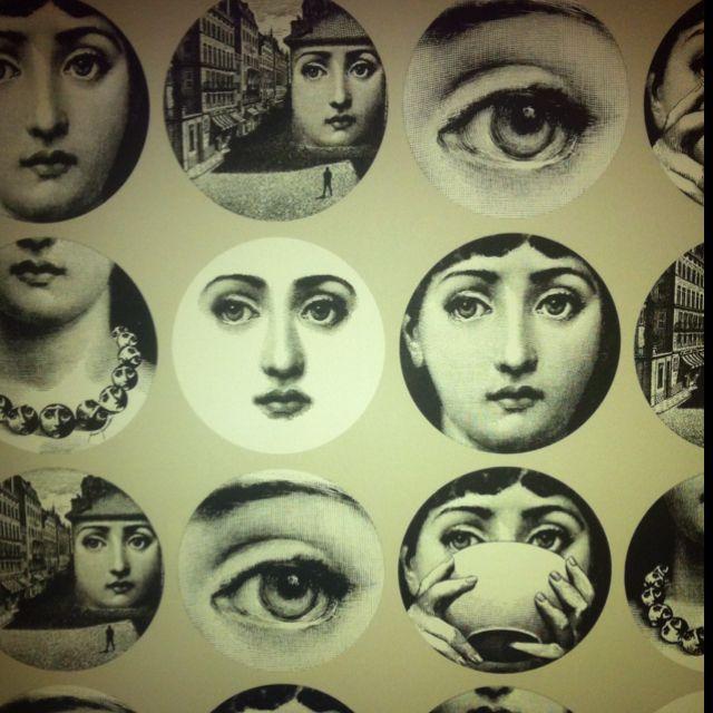 Piero Fornasetti Wallpaper In A Hotel Closet