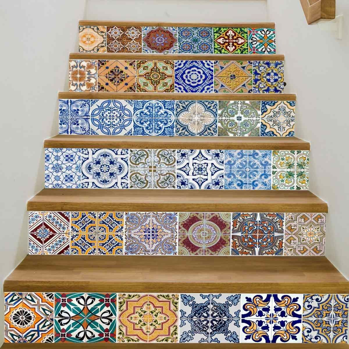 D Stairway Stickers Tile Pieces Products Pinterest