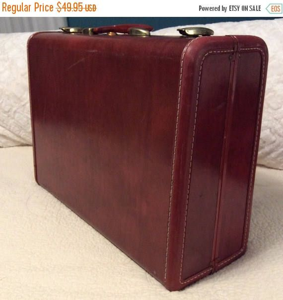 Extra Clean 1950s Brown SAMSONITE Suitcase Large Travel Makeup ...