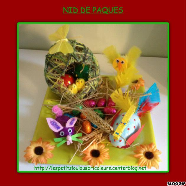 Bricolage enfant centre de table nid de p ques lespetitsloulousbricoleurs pinterest - Bricolage enfant paques ...