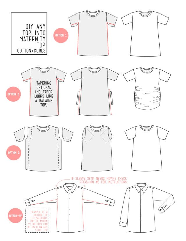 Any top into maternity top - with these 3 diys | Sewing | Pinterest ...