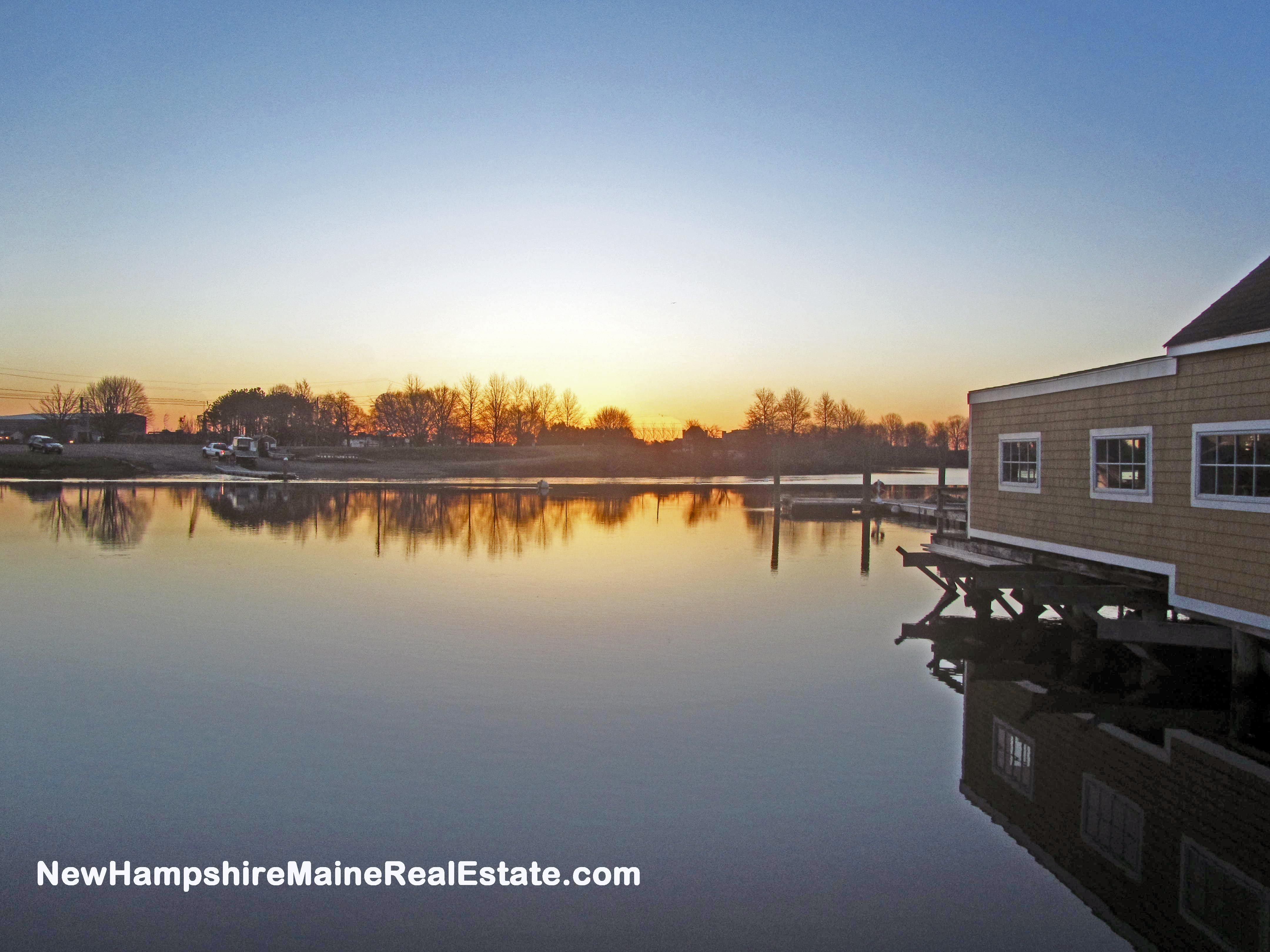 High Tide At Sunrise In Portsmouth Nh Its Hard To Imagine But 6