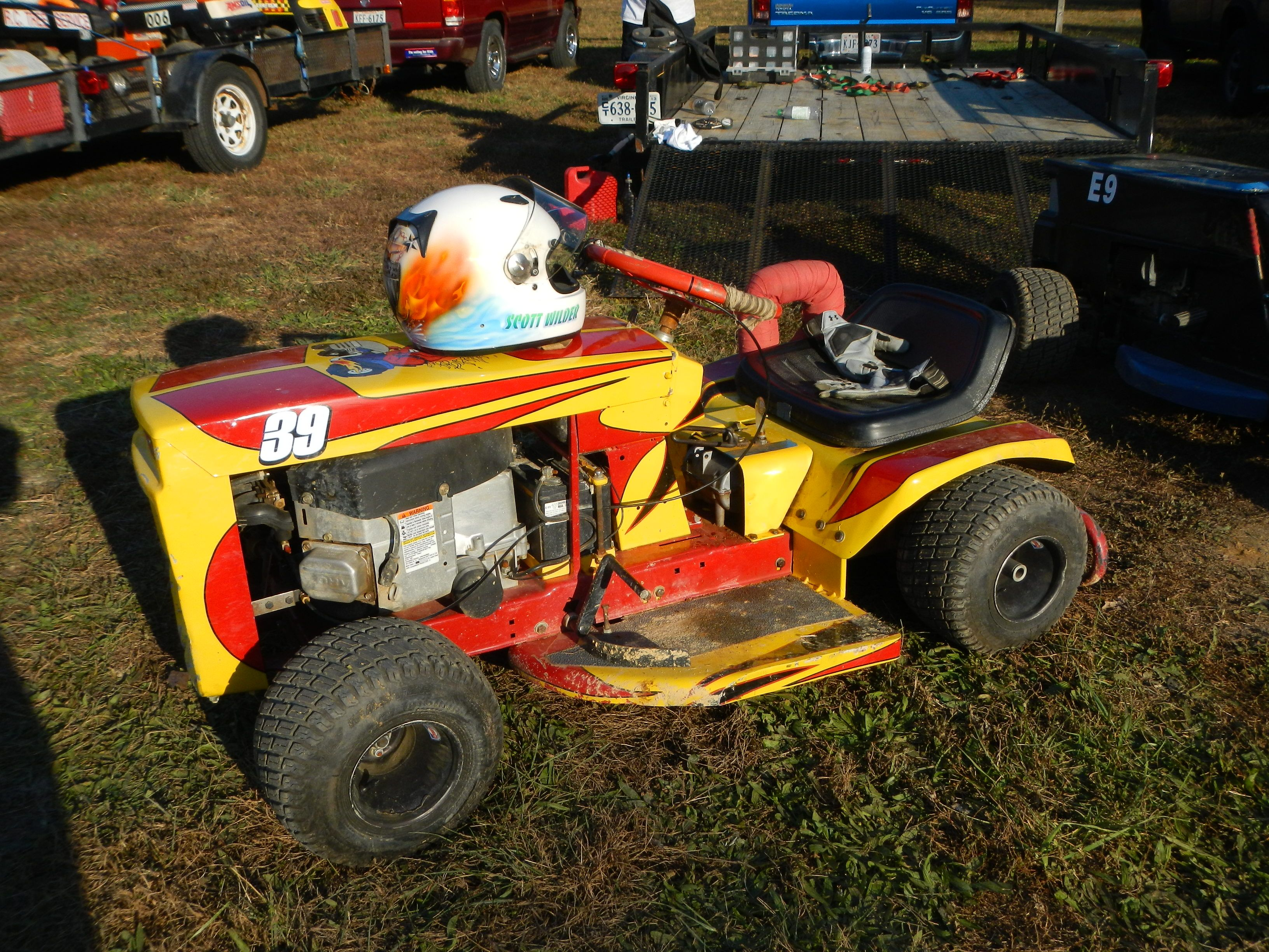 Racing Lawn Mower Parts : Suped up lawn mower for racing with the virginia