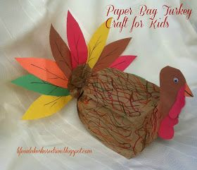 AltKids Craft Brown Paper Bag Turkey Tutorial