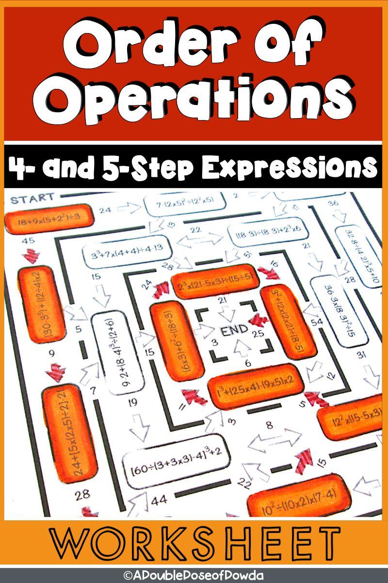 Order Of Operations Anchor Chart Pemdas Please Excuse My Dear Aunt Sally Colour Coded Visual Multiple Repre Fifth Grade Math Math Classroom 8th Grade Math