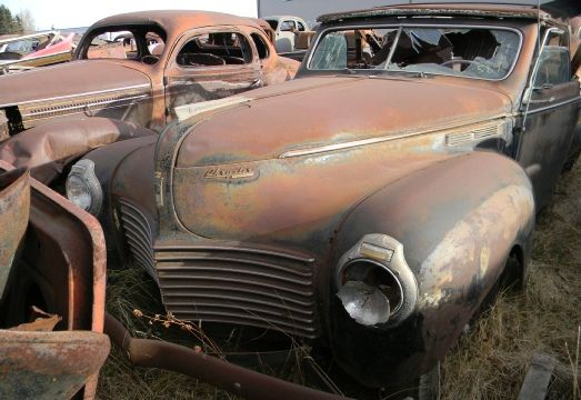 1941 Chrysler convertible in salvage yard | Classic MoPars