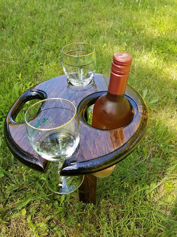 Folding Wine Table Outdoor Wine Holder Wooden Wine Holder