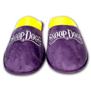 Snoop Dogg Men S House Slippers Purple And Yellow Lukesha Mack