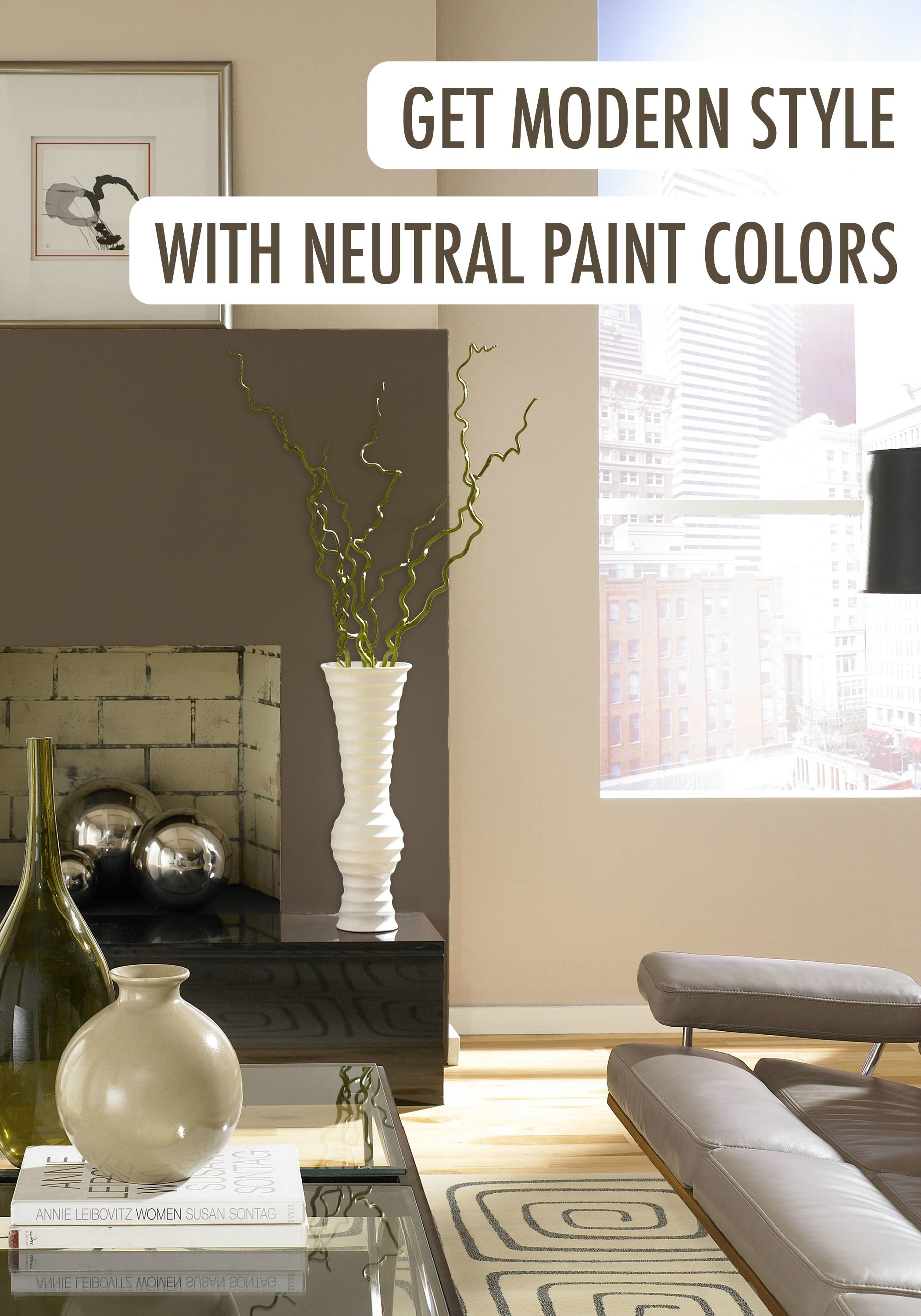Achieving modern style with neutral paint colors is easier than ever thanks  to BEHR paint.