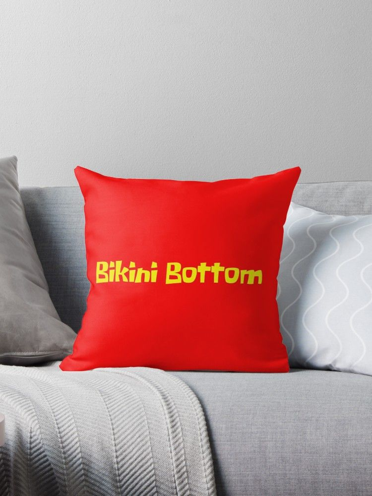 Bikini Bottom Graphic | Throw Pillow | Broken Concrete